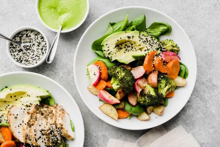 Uma dieta saudável e equilibrada plano de